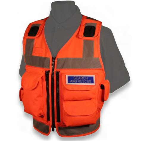 Rompi Hoodie Security protec high vis 5 pocket advanced utility security vest orange ebay