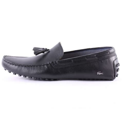 lacoste loafers sale lacoste concours tassle mens leather loafers in black