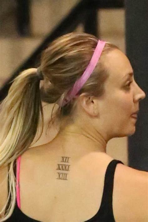 kaley cuoco tattoos 35 celebrities who tatted up elakiri community