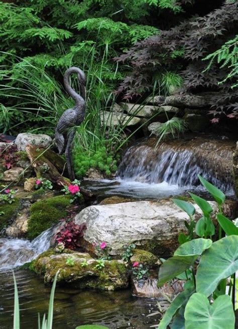 dreamy garden  backyard waterfall ideas home