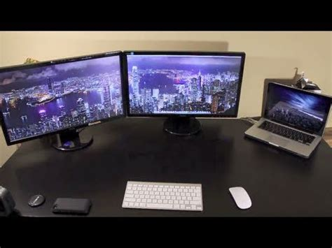 two external monitors on a macbook pro youtube