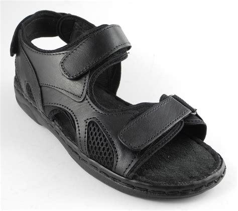 jesus sandals mens mens leather velcro jesus sandals shoes black size