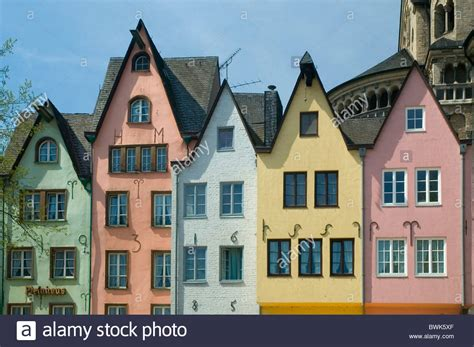 different houses cologne martinswinkel fish market old town facades houses