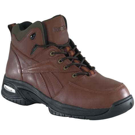 composite toe hiking boots s reebok 174 composite safety toe sport hikers brown