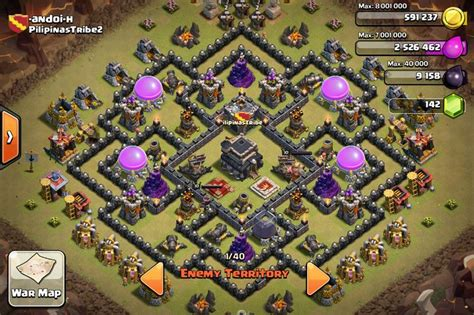 editing layout coc th 9 war base clash of clans clash of clans pinterest
