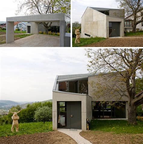 modern house with open sensation using glass walls loft cold or warm concrete box houses an open plan interior