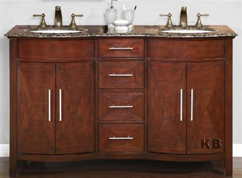 58 inch monaco vanity dark chestnut finish double