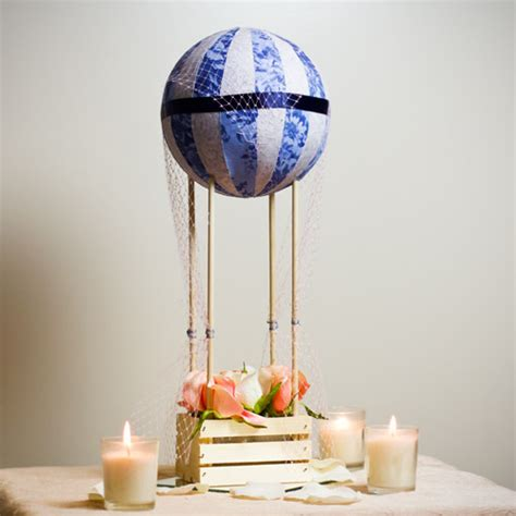 diy hot air balloon centerpiece weddings illustrated