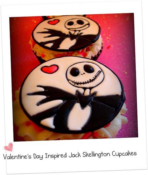 valentines day inspired jack skellington cupcakes make
