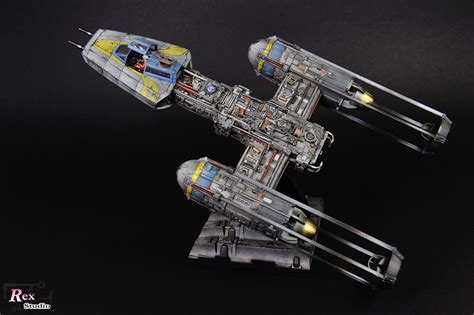 Base 2 Bandai 1 rex studio s bandai x wars 1 72 y wing starfighter photoreview big size images gunjap