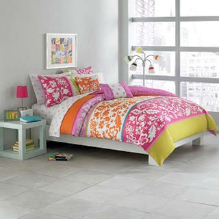 bed bath and beyond college bedding pink orange right said bed