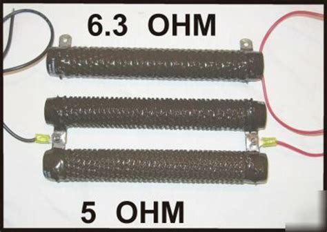ohmite corrib resistors 3 ohmite fixed corrib enamel resistors 6 8 ohm 300 watt