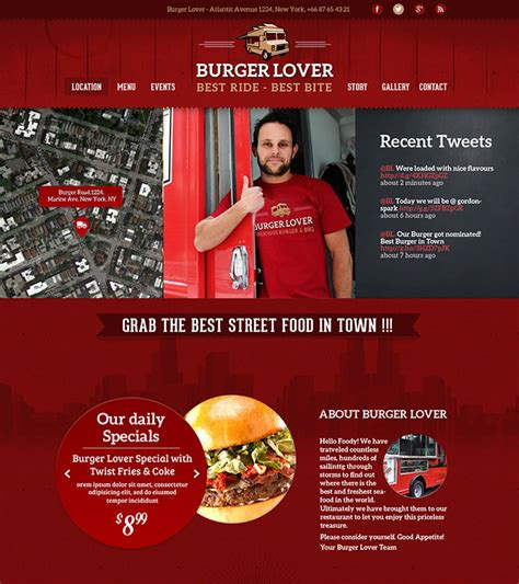 website top bar 25 best html website templates for cafe bar restaurant