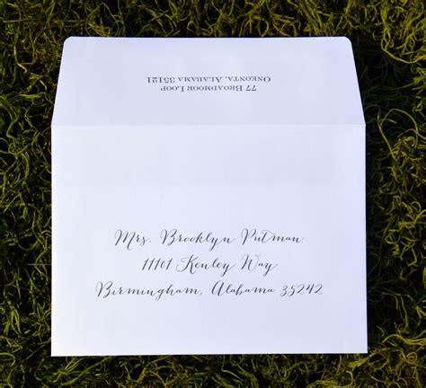 wedding invitation addressing single envelope envelope addressing single envelope wiregrass weddings