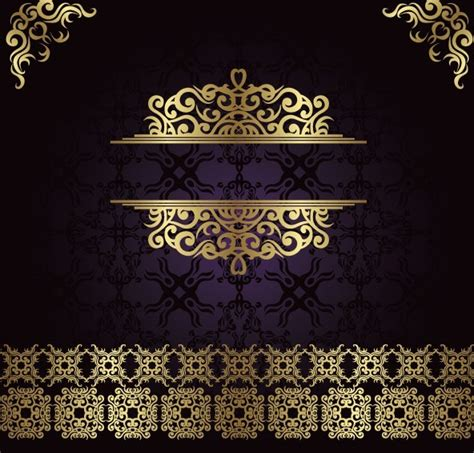 gold pattern background vector free golden royal floral pattern background vector 01