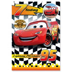 cars 7th birthday card partyware amp essentials party ark