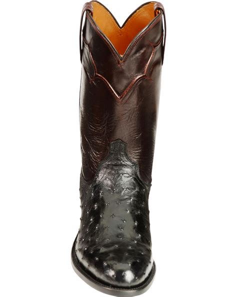 lucchese handcrafted quill ostrich napoli roper