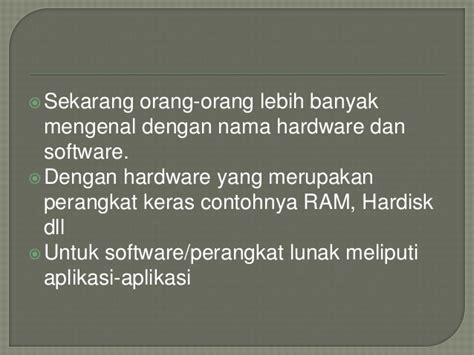 Mengenal Hardware Sofware Dan Pengelolaan Instalasi Komputer Cd keamanan jaringan pertemuan 3