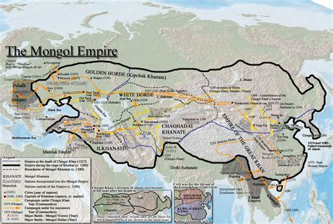 mongol empire map the mongol empire map collection