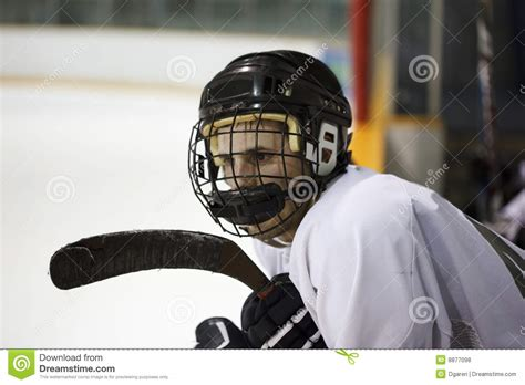 hockey player dies on the bench hockey player royalty free stock photos image 8877098