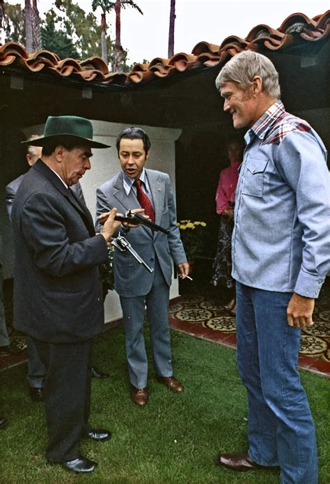 file general brezhnev meets actor chuck connors
