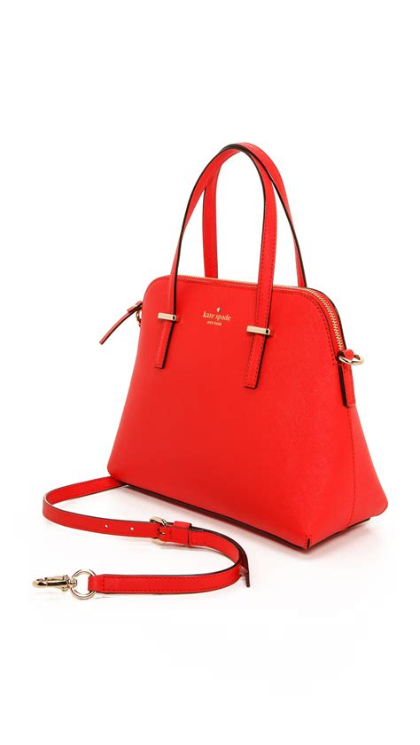 kate spade new york cedar street maise bag handbags wka67931 the realreal lyst kate spade new york cedar street maise cross body bag black in red