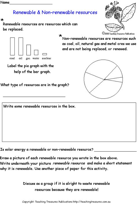 Energy Resources Worksheet by Renewable And Non Renewable Resources Solar Power
