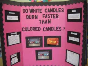 does white candles burn faster than colored candles science fair projects for 8th grade search