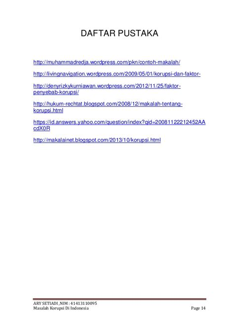 bahasa indonesia 1 8 abstrak dan daftar pustaka contoh daftar pustaka untuk makalah tik contoh three