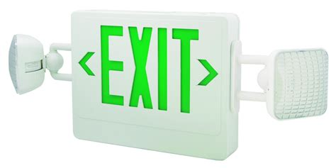 exit sign light combo led exit sign and emergency light combo elco lighting