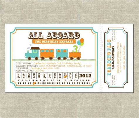 printable punch out tickets free printable train ticket invitations diy pinterest