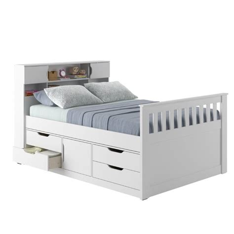 white captains bed full captain s bed in snow white bmg 110 d