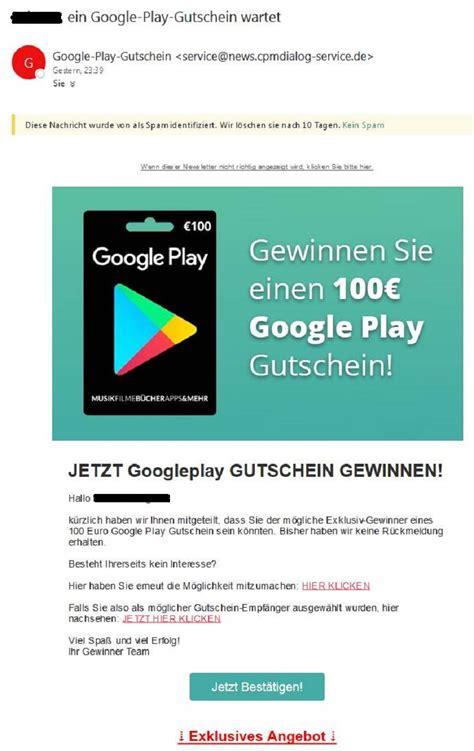 Gewinnspiel Play by 100 Play Gutschein Gewinnspiel Achtung Spam