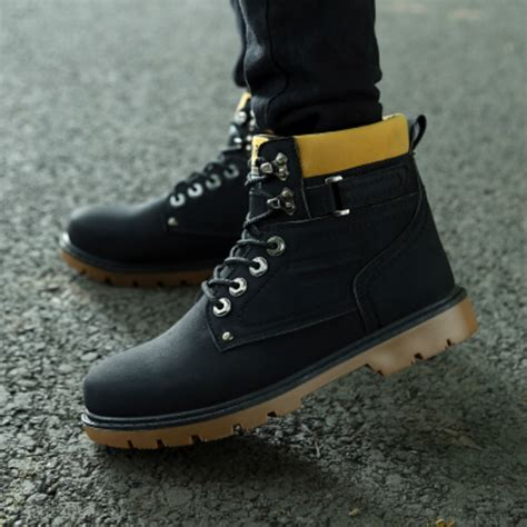 best mens winter snow boots fashion s winter warm casual high top loafers shoes