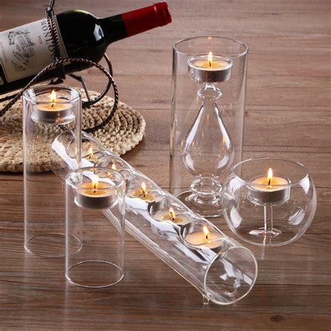 Glas Kerzenhalter Set by Stunning Set 5 Glass Candle Holders Cylinder For