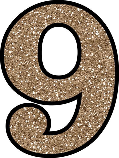 Letter Number 9 Sparkling Number 9 Transparent Png Stickpng