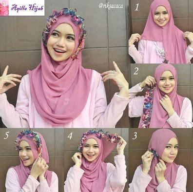 tutorial jilbab segi empat lapis 2 cara gang pakai hijab segi empat modern buat pemula
