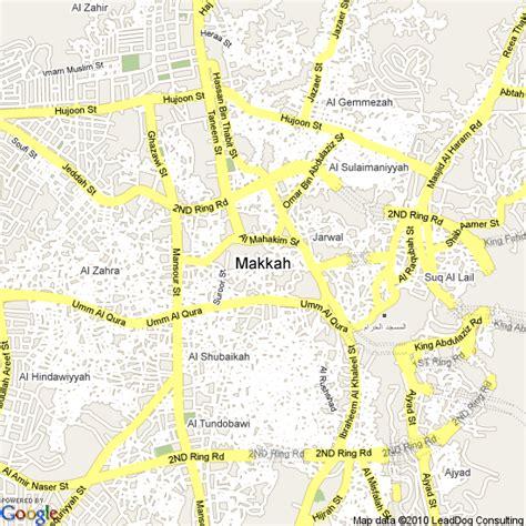 mecca map map of mecca saudi arabia hotels accommodation