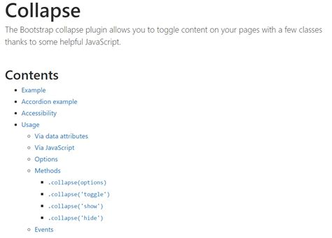 bootstrap layout collapse bootstrap collapse