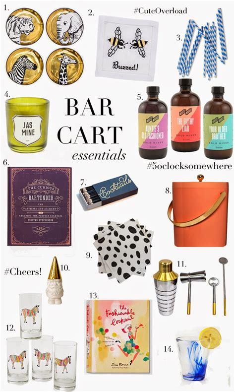 Bar Essentials Top Bar Cart Essentials