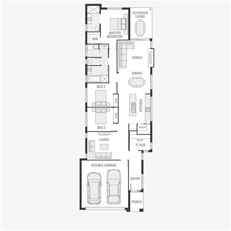 wide lot floor plans house plans for wide lots