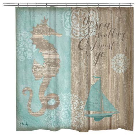beach style shower curtains laural home beach boardwalk shower curtain beach style