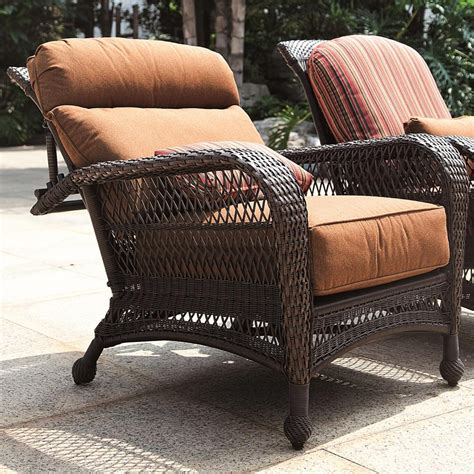 outdoor wicker recliner longboat key wicker reclining chair wickercentral com