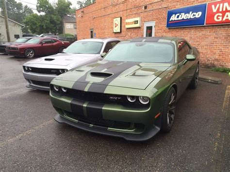 2016 dodge srt hellcat mule to test new green color is