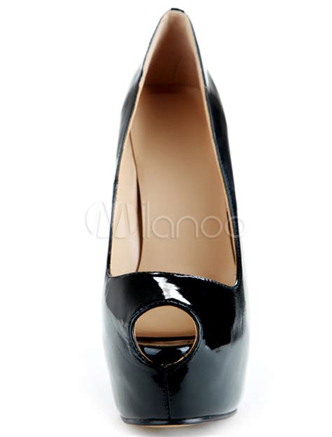 black high heels peep toe black high heels dress shoes peep toe platform slip