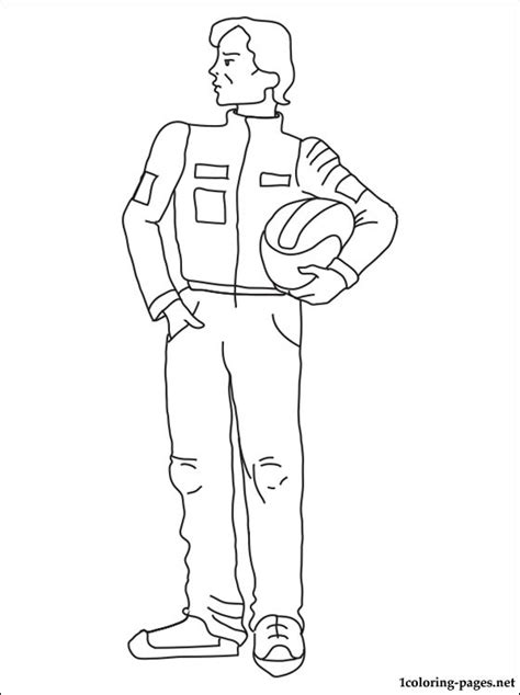 coloring page of race car driver racing driver coloring page coloring pages