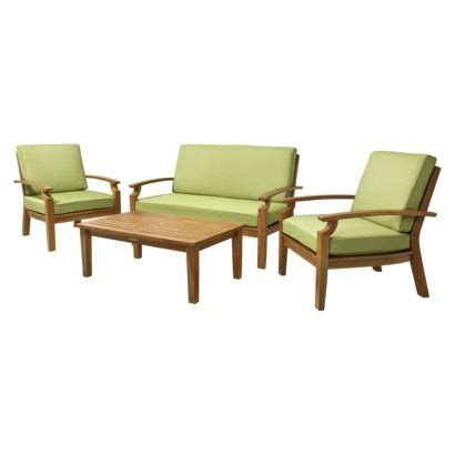 Smith And Hawken Patio Furniture Smith Hawken 174 Island 4 Wood Patio Conversation Furniture Set For The Home