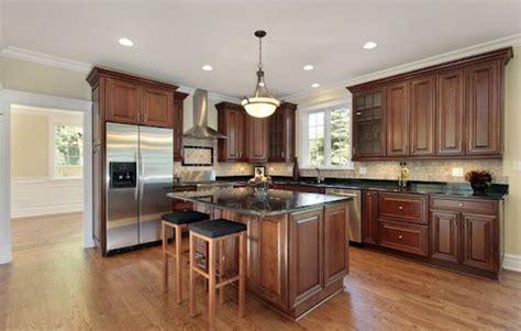 Hardwood Floor Colors In Kitchen Dark Hardwood Floor Wood Floor Kitchen