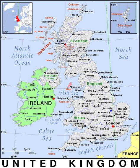 great world city map geography map of the countries in the united kingdom