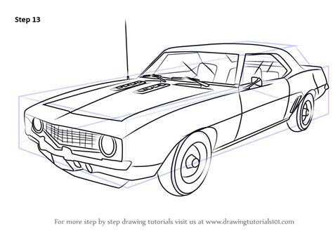 how to draw sports car draw step by step learn how to draw a 1969 camaro sports cars step by step